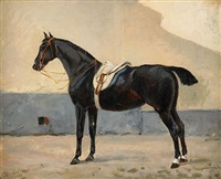 hästporträtt by johan georg arsenius