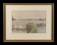 rose bay and vaucluse from shark island by sydney george ure smith