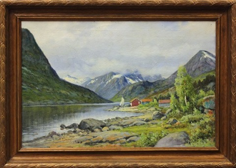 norwegian landscapes 2 works by ernst aschenbach