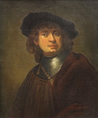 portrait of rembrandt van rijn by v. bianchini