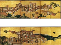 chinese palace scenes by japanese school-kano (18)