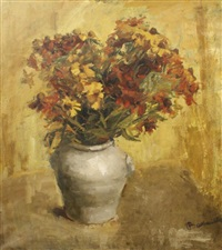 stillife with flowers by irène bataille