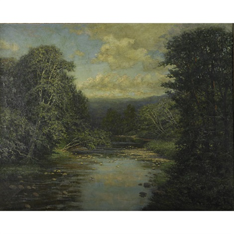 river at keene valley by robert ward van boskerck