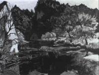 herbstliche landschaft an der donau by heiner baumgärtner