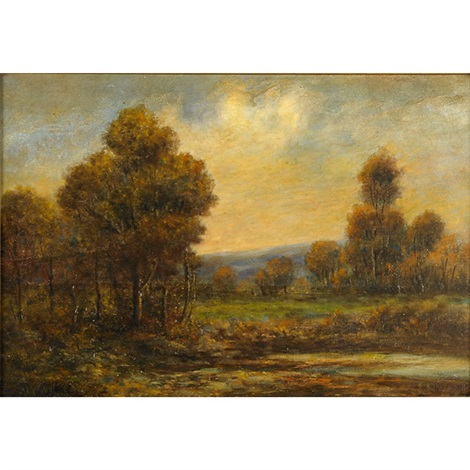 a country landscape by alexander helwig wyant