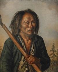 porträtt av en tungus by carl petter mazer