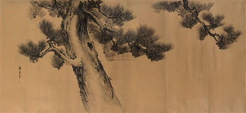 古松图 pine tree by song nian