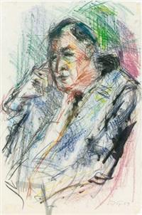 porträt eines herrn im anzug by rolf spinnler