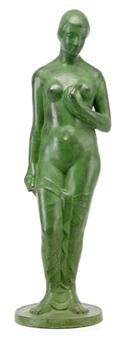 stående naken flicka by gösta eugen almgrén