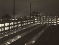 untitled (factory buildings by night) by wolff & tritschler