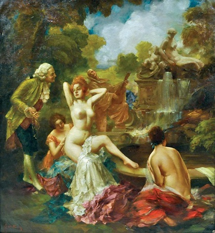 bathers by eduard ansen hofmann