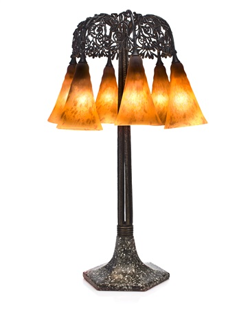 seaweed umbrella lamp by daum and edgar william brandt