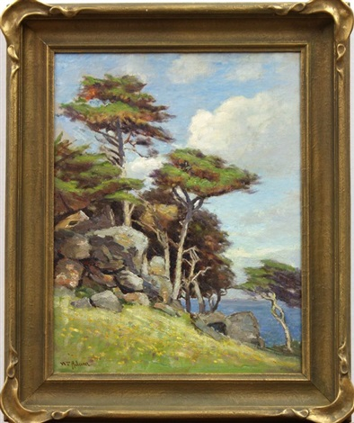sea view with monterey cypress by william adam