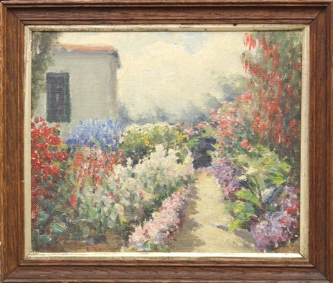 garden pathway in monterey by william adam
