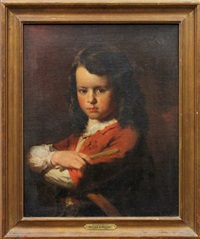 portrait of a young boy with a hoop by william e. winner