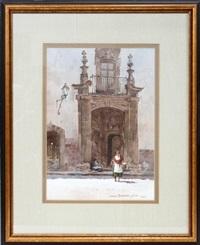 ornate doorway, san miguel by lowell ellsworth smith