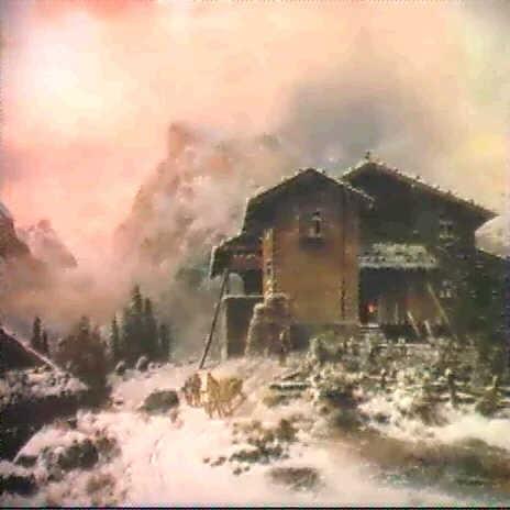 immerschweizer bergbauernhaus im winter by johann rudolf rapp