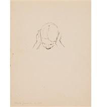 kinderbildnis (recto)/bildnis ottilia giacometti – studie (verso), 1917/18 by alberto giacometti