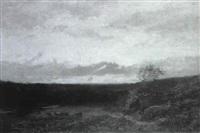 abendlandschaft, le soir apres l'orage by louis-auguste auguin