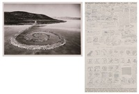 great salt lake, utah (+ another; photo; 2 works) by robert smithson