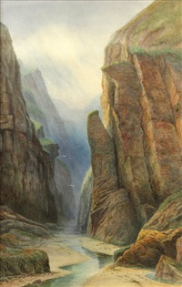 view of the royal gorge by thomas moran
