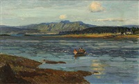 row boat in the cove by alice maud fanner
