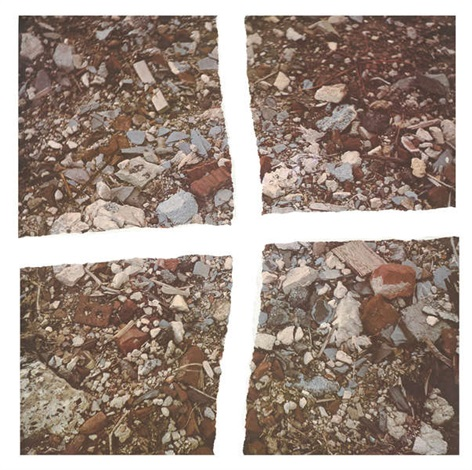 torn photograph from the second stop rubble by robert smithson