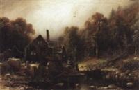 die verlassene wassermühle by friedrich wilhelm müller