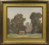 house among eucalyptus trees by fitch fulton