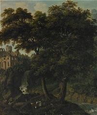 romantiskt landskap med kor by axel otto morner