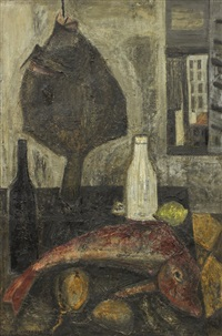 fish & bottles by raymond guerrier