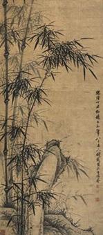 竹石图 by qian zai