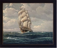 under full sail by martin franz glüsing (francis-glüsing)