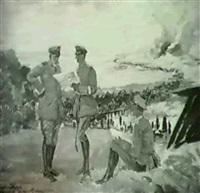german generals at battle of the somme, world war i by albert gartmann