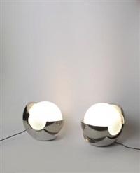 due lampade-scultura da tavolo (2 works) by giacomo benevelli