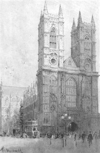 west front, westminster abbey by j. tim macdonald