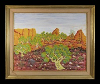 untitled outback scene by henri bastin