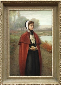 portrait of a young maiden by h. irving marlatt