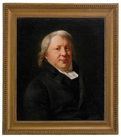 porträtt av regementspastorn carl olof kihlstedt klädd i ämbetsdräkt by per krafft the younger
