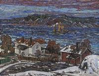 lotsstation - vinterbild från lofoten by rikard lindström