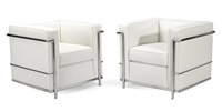 grand comfort armchairs (pair) by le corbusier
