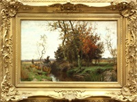 connecticut autumn landscape by albert babb insley