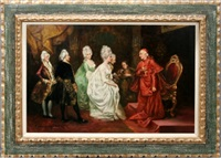 cardinal richelieu's reception at versailles by rodriguez