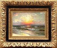 sunset landscape by r.dey de ribcowski