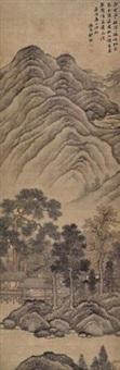 山水 (landscape) by deng fu