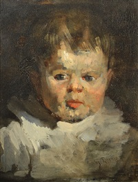 portrait of the artist's son by joseph raphael