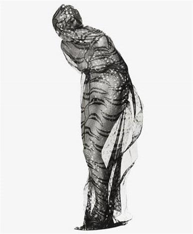 gianfranco ferre silk scarf by albert watson