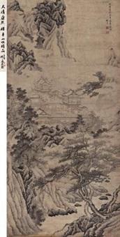 松鹰壑金阁 (landscape) by chen zhuo