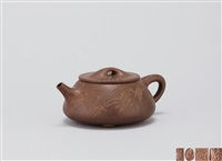 大石瓢 (stone weight teapot) by tang yun, xu xiutang and xu daming