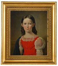 porträtt av fröken ebba ottiliana von francken by axel johan fagerplan